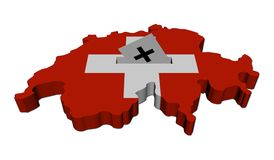 Swiss election map with ballot Royalty Free Stock Images