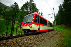 Swiss Electric Train Stock Photography
