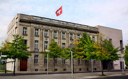 The Swiss Embassy in Berlin. Berlin, Germany - May 18, 2015: The Swiss Embassy in Berlin Royalty Free Stock Photo