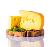 Swiss Emmental Cheese Royalty Free Stock Images