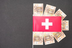 Swiss and the euro Royalty Free Stock Photos
