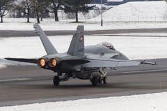 Swiss F/A-18 Hornet Royalty Free Stock Photography