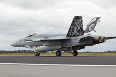 Swiss F-18 Hornet Royalty Free Stock Photo