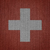 Swiss fabric flags Royalty Free Stock Images