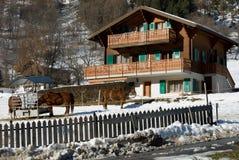 Swiss Farmhouse Royalty Free Stock Photo