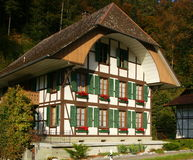 Swiss Farmhouse Stock Photography