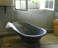 Swiss farmhouse  antique bath  Royalty Free Stock Image
