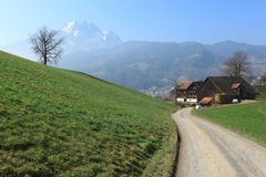 Swiss farmland Stock Photo