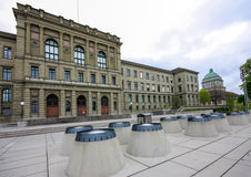 Swiss Federal Institute of Technology  building in Zurich Stock Images