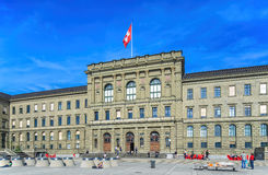 Swiss Federal Institute of Technology building. Zurich, Switzerland - 12 April, 2015: facade of the Swiss Federal Institute of Technology building. Swiss Federal Royalty Free Stock Images