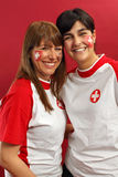 Swiss female sports fans Stock Images
