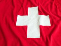 Swiss flag background Royalty Free Stock Images