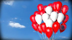 Swiss flag balloons Royalty Free Stock Photos