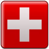 Swiss flag button Royalty Free Stock Photo