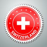 Swiss flag label Stock Photography