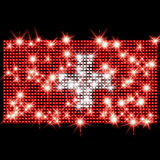 Swiss flag in rhinestones Royalty Free Stock Photos