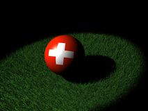 Swiss flag on sphere Stock Images