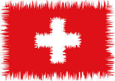 Swiss flag stylized (doodle) Stock Photo