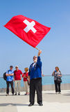 Swiss flag thrower Stock Photography