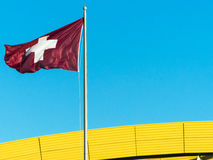 Swiss flag. Royalty Free Stock Photography