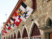 Swiss flags Royalty Free Stock Photography