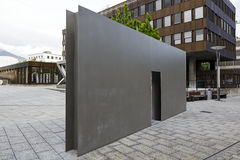 The Swiss Fountain by Roman Signer in Vaduz Royalty Free Stock Image