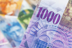 Swiss franc Stock Photography