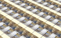 Swiss franc bills stacks background. Royalty Free Stock Image