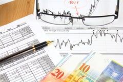 Swiss franc business Royalty Free Stock Photo
