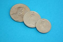 Swiss franc coins Stock Photography