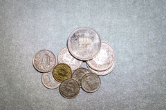 Swiss franc coins Stock Image