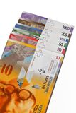 Swiss franc, currency of Switzerland. Stock Photo