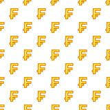 Swiss franc currency symbol pattern, cartoon style Royalty Free Stock Image