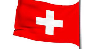 swiss franc flag 3d animation stock video footage
