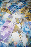 Swiss Franc. Money and currency of Switzerland stock images