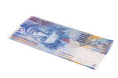 Swiss Franc note, isolated Stock Photography