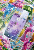 Swiss Franc notes Stock Image