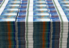 Swiss Franc Notes Bundles Stack Royalty Free Stock Images