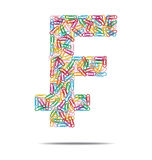 Swiss franc symbol clips Stock Images