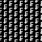 Swiss franc symbol seamless pattern Stock Photos