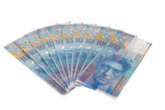 Swiss francs royalty free stock photography