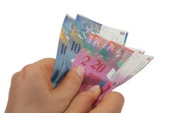 Swiss Francs Royalty Free Stock Photos
