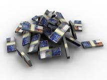 Swiss Francs. A 3d illustration of million Swiss Francs Stock Photo