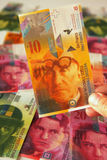 Swiss francs close up Stock Photos