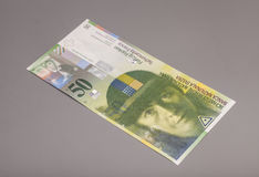 50 Swiss francs, currency of switzerland Stock Photography