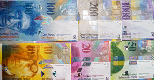 Swiss Francs Stock Photos