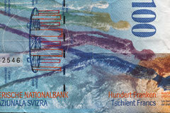 Swiss Francs. One Hundred Swiss Francs Banknote Stock Image