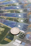 2 Swiss Francs Stock Images