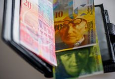 Swiss frank Stock Photo