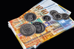 Swiss Franks - a few banknotes and coins Stock Image